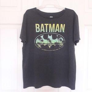 Batman bat grey graphic t shirt crew neck top XL
